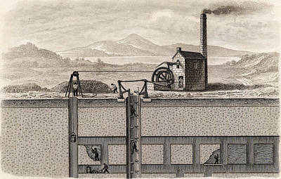 Engine House Photograph - Cross-section Of A Metalliferous Mine by Universal History Archive/uig