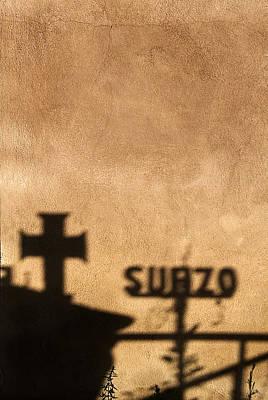 Cross Shadow Sierra Vista Cemetery Taos New Mexico Original by John Hanou