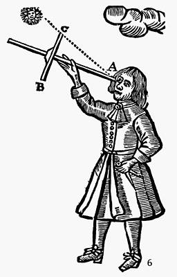 Cross-staff, 1669 Print by Granger