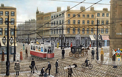 Shiner Painting - Cross Street Manchester - 1910 by Ronald Haber