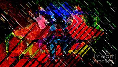 Full Color Cross Strokes For Decoration In Horizontal Art  Art Print by Mario Perez