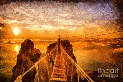 Cross That Bridge Art Print