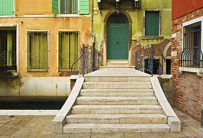 Cross The Canal To The Green Door Art Print by Francois Girard