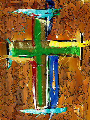 Painting - Cross To Bear by Richard Sean Manning