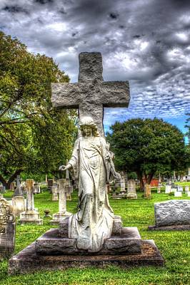 Elmwood Cemetery Photograph - Cross To Bear by Shannon Louder