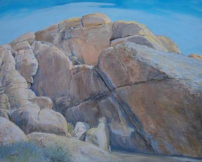 Painting - Cross Rock At Indian Cove  by Sandra Lytch