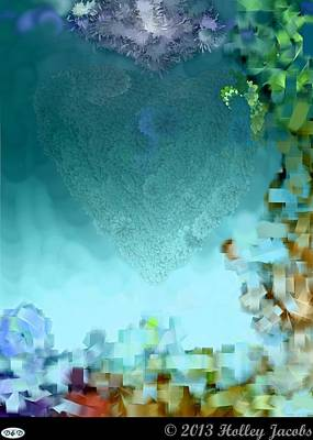 Digital Art - Cross Your Mind Teal by Holley Jacobs