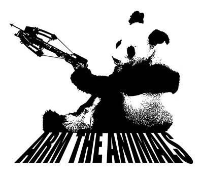 Crossbow Panda White Original by Arm The Animals