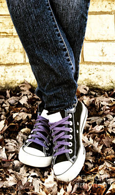 Crossed Feet Of Teen Girl Art Print by Birgit Tyrrell