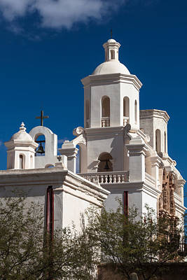 Photograph - Crosses And Bells At San Xavier Del Bac by Ed Gleichman