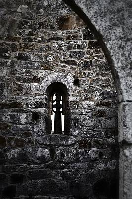 Photograph - Crosses And Stone Walls At Clonmacnoise by Nadalyn Larsen