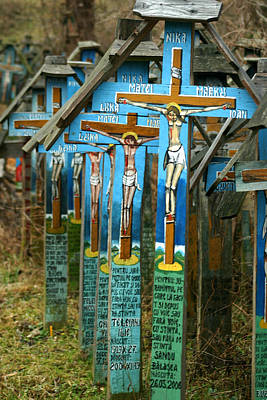 Photograph - Crosses In An Orthodox Graveyard by Emanuel Tanjala