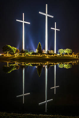 Photograph - Crosses In Reflection by Andy Crawford