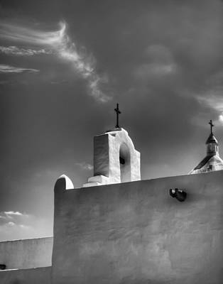 Photograph - Crosses Of Espirtu Santo Black And White by Joshua House