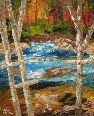 Unusual Religious Painting - Crosses Of The Babbling Brook by Ralph Loffredo
