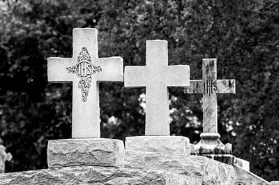 Photograph - Crosses On A Tomb 2 by Andy Crawford