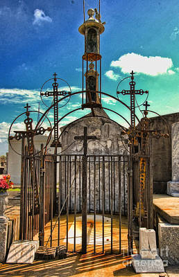 Photograph - Crosses Tomb In Greenwood Cemetery New Orleans by Kathleen K Parker