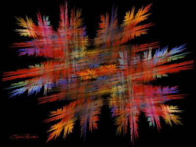 Crosshatch Art Print by Sylvia Thornton