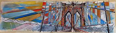 Crossing Brooklyn Lines Original by Nancy Hilliard Joyce