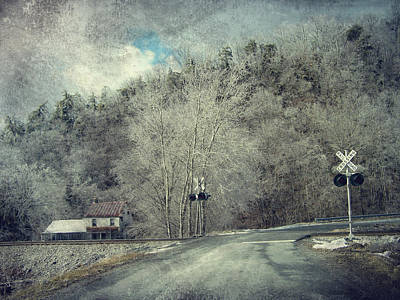 Crossing Into Winter Art Print by Kathy Jennings