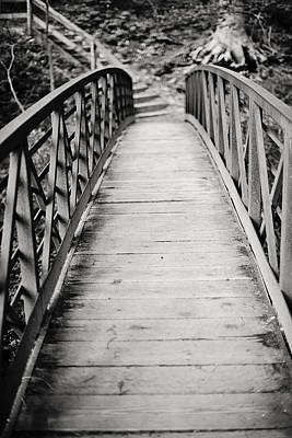 Crossing Over - Black And White Print by Terry DeLuco