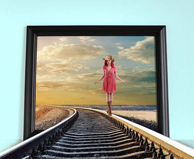 Art Print featuring the digital art Crossing Over by Nina Bradica
