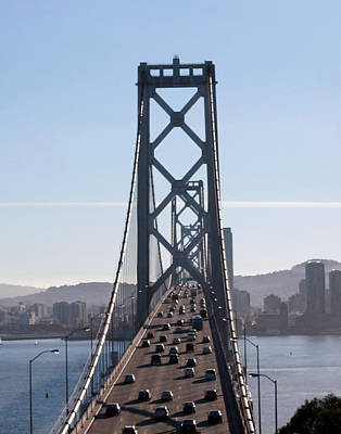 Crossing The Bay Bridge  Art Print by Dee  Savage