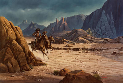 Western Art Painting - Crossing The Border by Michael Humphries