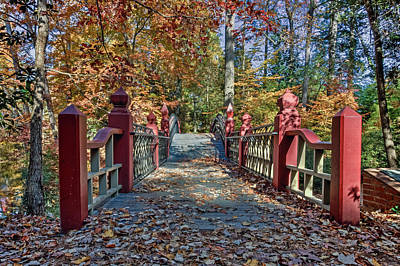 Photograph - Crossing The Crim Dell Bridge II by Jerry Gammon