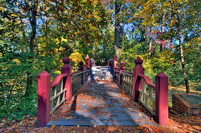 Photograph - Crossing The Crim Dell Bridge by Jerry Gammon