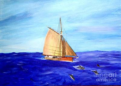 Painting - Crossing The Gulf Stream by Bill Hubbard
