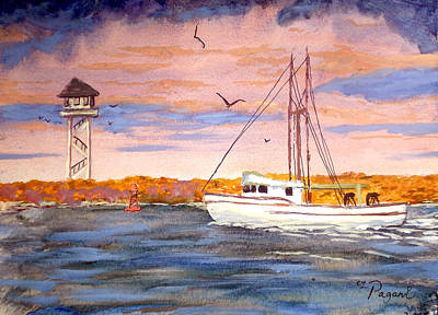 Painting - Crossing The Tillamook Bay Bar by Chriss Pagani