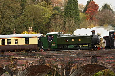 Coalbrookdale Photograph - Crossing The Viaduct by Paul Williams