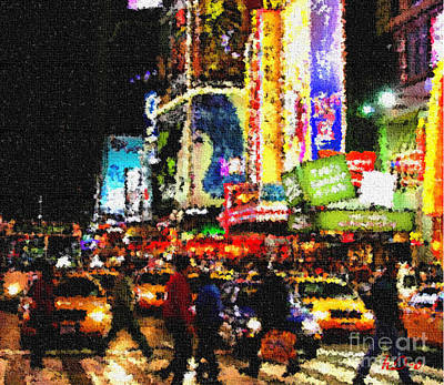 Citylife Digital Art - Crossing To Lights by Ha Imako
