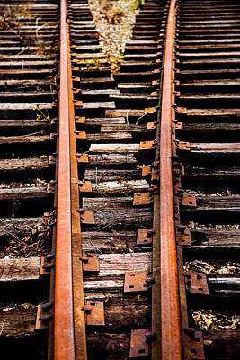 Train Tracks Photograph - Crossing Tracks by Karol Livote