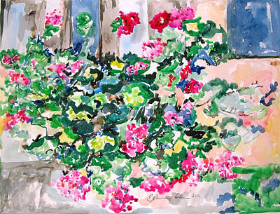 Painting - Crosspatch Of Geraniums by Esther Newman-Cohen