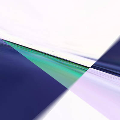 Green Surreal Geometry Digital Art - Crossroads 1 by Tom Druin