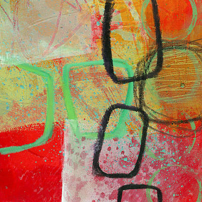 Grid Painting - Crossroads 29 by Jane Davies
