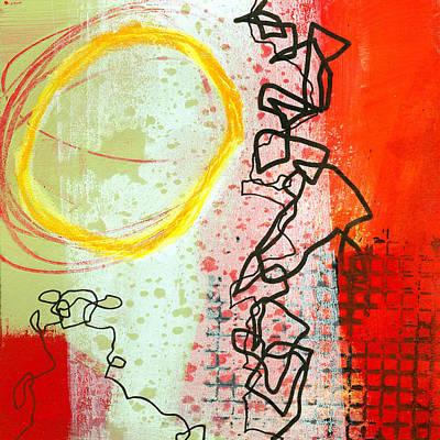 Grid Painting - Crossroads 33 by Jane Davies