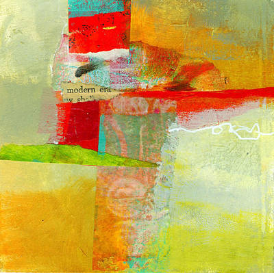 Grid Painting - Crossroads 55 by Jane Davies