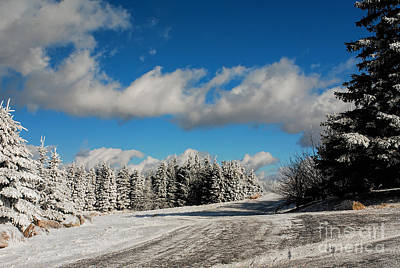 Snowy Roads Photograph - Crossroads by Lois Bryan