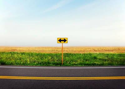 Sign Photograph - Crossroads by Todd Klassy