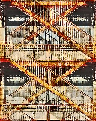 Digital Art - Crosstown Fire Escape by Lizi Beard-Ward
