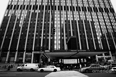 Crosswalk Leading To Penn Station And Madison Square Garden Seventh Avenue New York City Print by Joe Fox