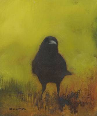 Mystical Landscape Painting - Crow 13 by David Ladmore