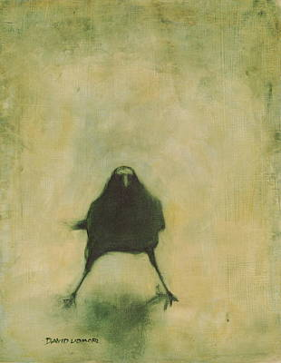 Crow Wall Art - Painting - Crow 6 by David Ladmore