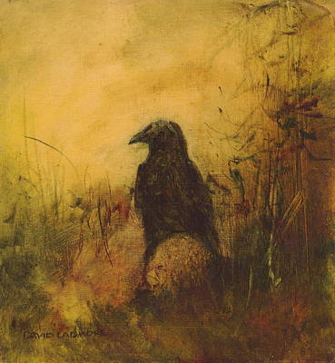 Crow Painting - Crow 7 by David Ladmore
