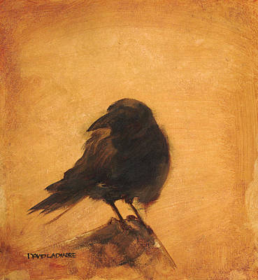 Crow Painting - Crow 9 by David Ladmore
