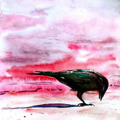 Crow At Dawn Original
