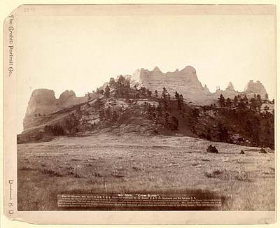 Crow Butte. Near Ft. Robinson, Neb. And F.e. & M.v. R.r. -- Art Print by Litz Collection